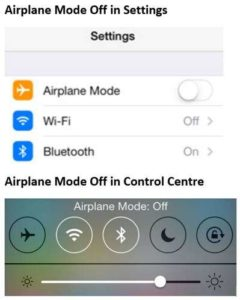 How to turn off Airplane Mode on iPhone