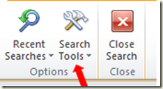 Advanced Find Search in Outlook