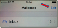 Inbox Missing in iPhone