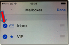 Missing Inbox in iPhone